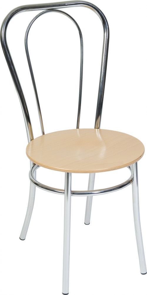 Teknik Office Bistro Deluxe Chair Available In Singles Or 4 Pack Breakout Chair with Chrome Legs and Backrest