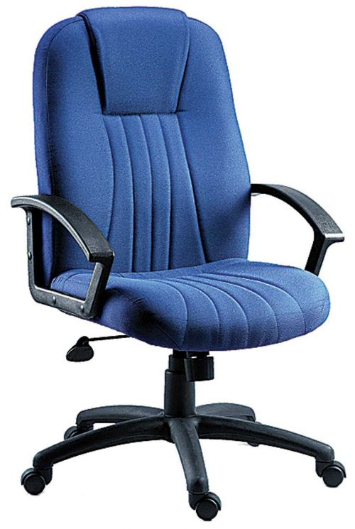 Teknik Office City Blue Fabric Executive Office Chair Durable Nylon Armrests and Matching Five Star Base