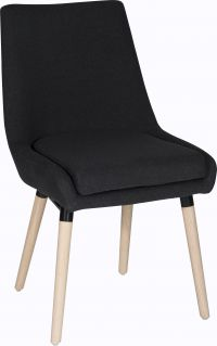 Teknik Office Welcome Reception Chairs Graphite Soft Brushed Fabric Wooden Oak Legs Packs Of 2