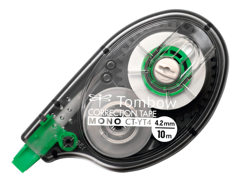 Correction Tape Tombow MONO YT4 Correction Tape Roller 4.2mmx10m White (Pack 10)