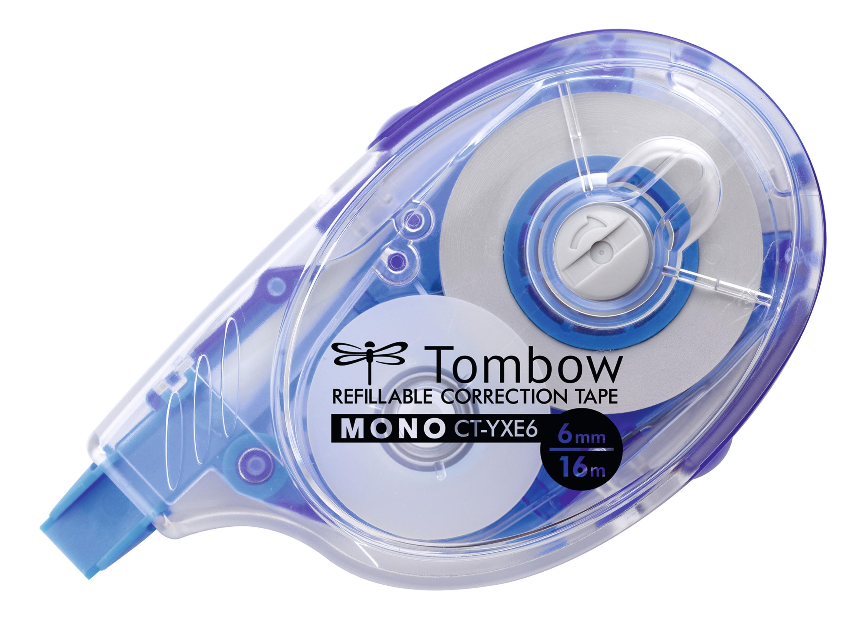 Correction Tape Tombow MONO YXE6 Refillable Correction Tape Roller 6mmx16m White