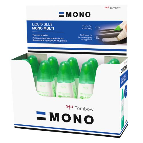 Tombow Liquid glue Multi Talent width two tips display PK10