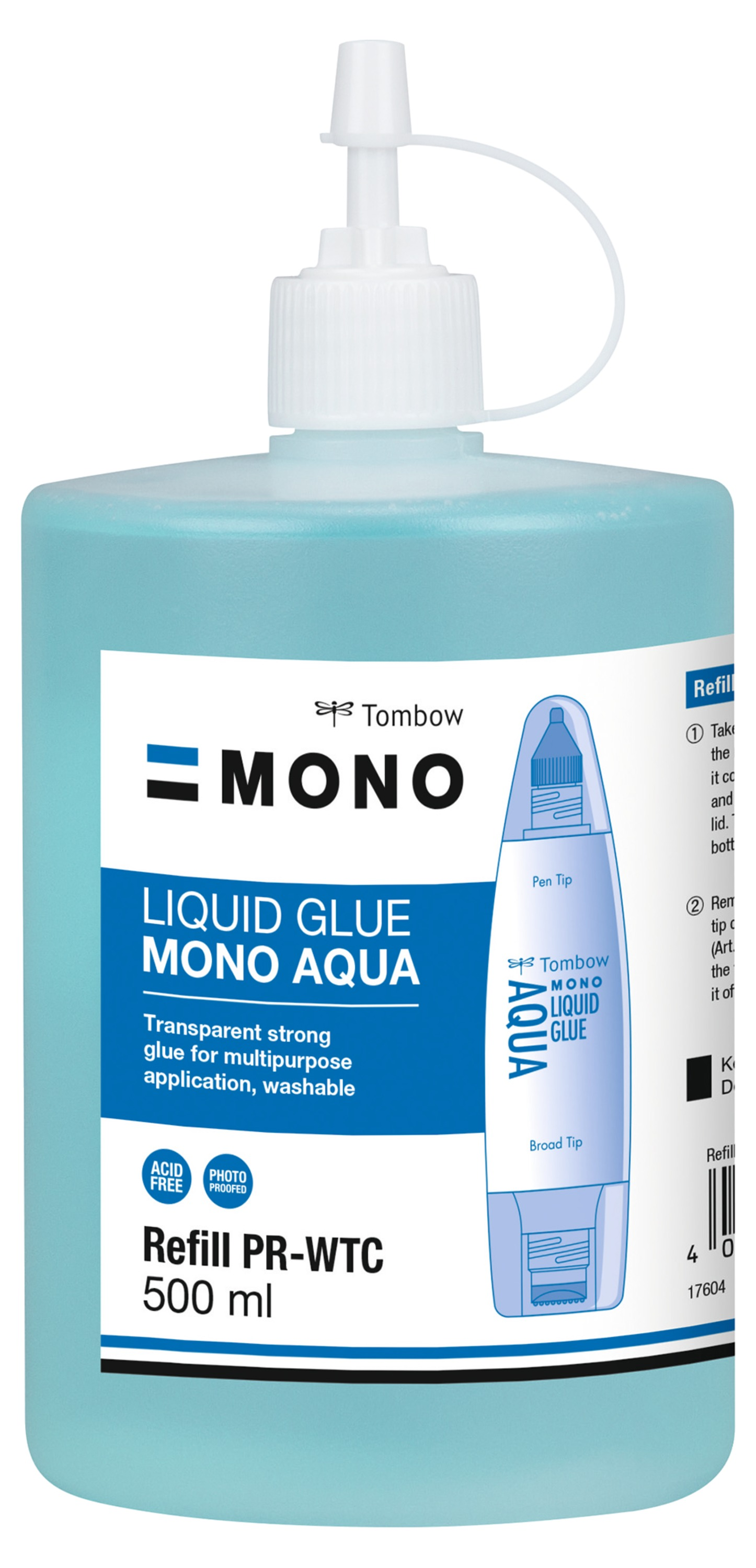 Strong Glues Tombow Refill for Liquid Glue PT-WTC 500ml Washable
