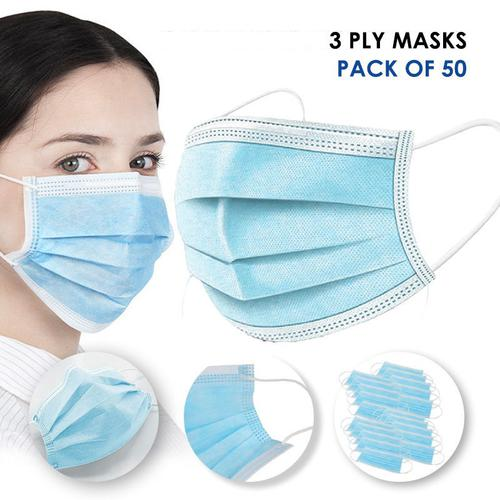 Image for 3 Ply Disposable Medical Grade Mask (Pack of 50)