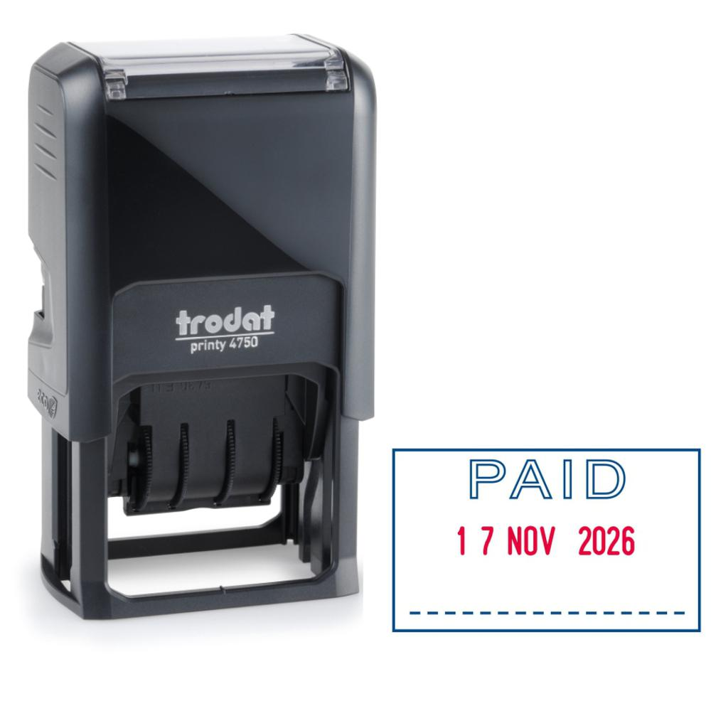Stamps Trodat Eco Paid Dater Stamp