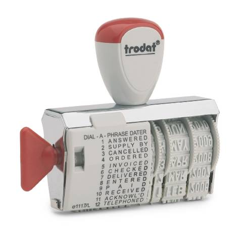 Trodat 1117 Dial-A-Word Line Dater Stamp Single-line Ref 54345