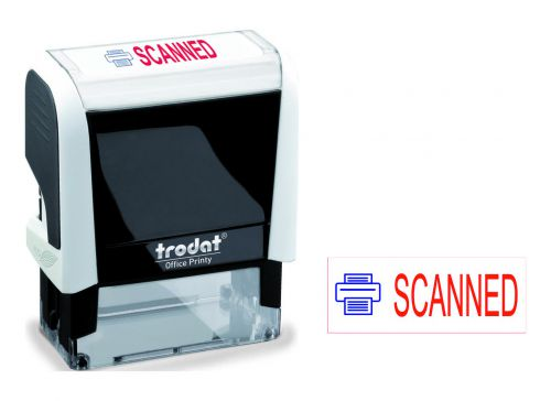 Image for Trodat Office Printy Word Stamp Scanned Red/Blue Code 101226