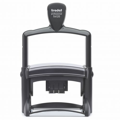Trodat Professional 5212 Self Inking Dater Custom Stamp. Imprint Area 115 x 68 mm - 14 lines maximum