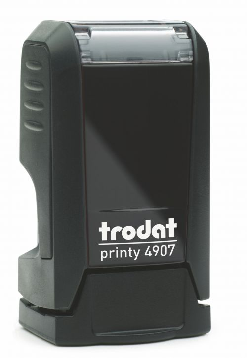 Trodat Printy 4907 Self Inking Custom Stamp. Imprint Area 11 x 5 mm - 1 line maximum