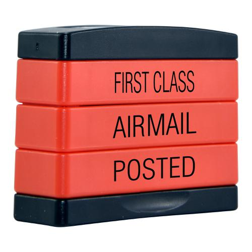 Trodat  3-in-1 Stampstack Mail - First Class - Airmail - Posted