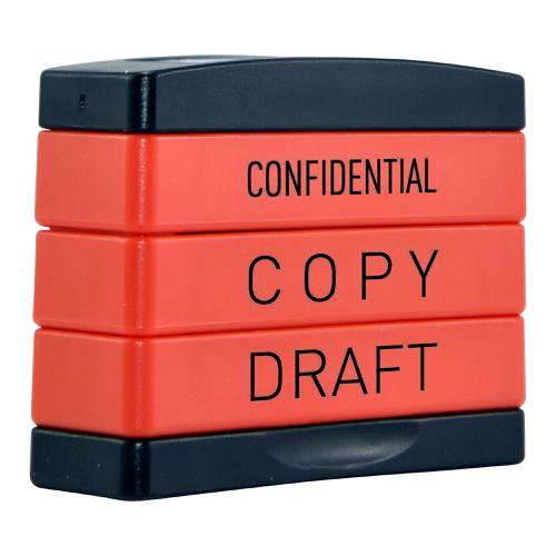 Trodat  3-in-1 Stampstack Professional - Confidential - Copy - Draft