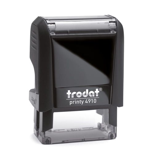 Trodat Printy 4910 Self Inking Custom Stamp. Imprint Area 24 x 7 mm - 2 lines maximum