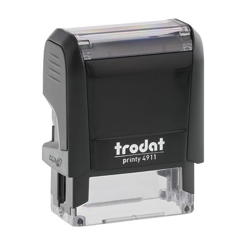 Trodat Printy 4911 Self Inking Custom Stamp. Imprint Area 37 x 12 mm - 3 lines maximum