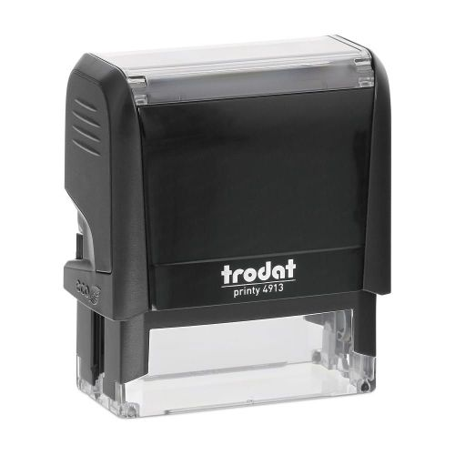 Trodat Printy 4913 Self Inking Custom Stamp. Imprint Area 57 x 21 mm - 6 lines maximum
