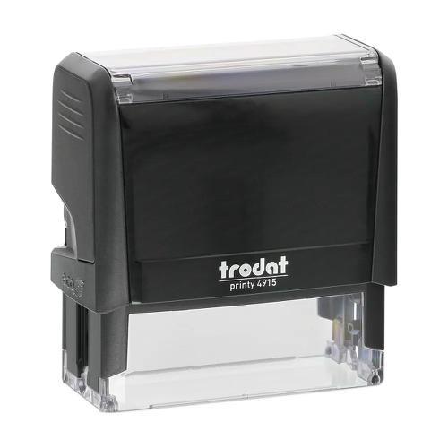 Trodat Printy 4915 Self Inking Custom Stamp. Imprint Area 68 x 23 mm - 6 lines maximum