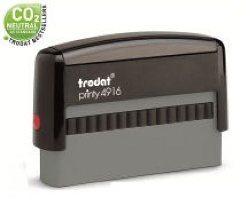 Trodat Printy 4916 Self Inking Custom Stamp. Imprint Area 67 x 8 mm - 2 lines maximum