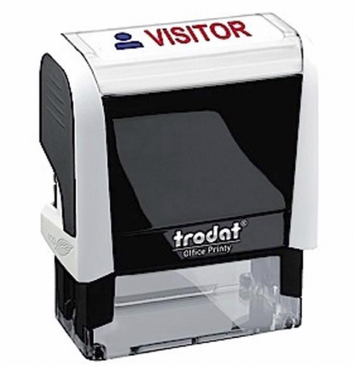 Trodat Office Printy Word Stamp Visitor Red/Blue Code