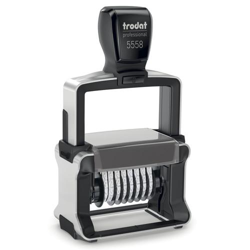Trodat Professional Line 5558 Self Inking Numberer Stamp 5mm 8 Digits Black
