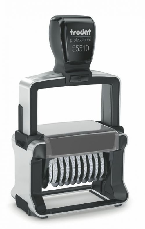 Trodat Professional Line 55510 Self Inking Numberer Stamp 5mm 10 Digits Black