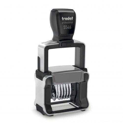 Trodat Professional Line 5546 Self Inking Numberer Stamp 4mm 6 Digits Black