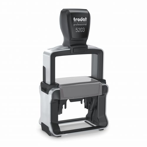 Trodat 5203 Professional 4.0 Self Inking Custom Stamp. Imprint Area 47 x 26 mm - 6 lines maximum