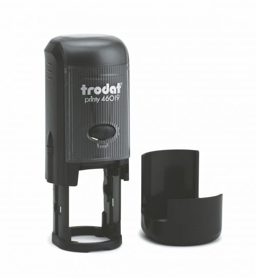 Trodat Printy 46019 Self Inking Custom Stamp. Imprint Area 19 mm Dia - 4 lines maximum