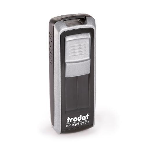Trodat Pocket Printy 9512 - 47 x 18 mm - Eco Black - Silver