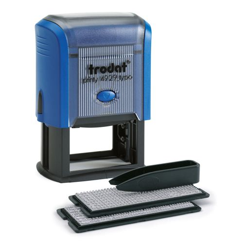 Trodat Printy 4.0 Typo 4929  D.I.Y Self-inking Rubber Stamp - This stamp creates up to 6 lines of customised text, great for professional use.