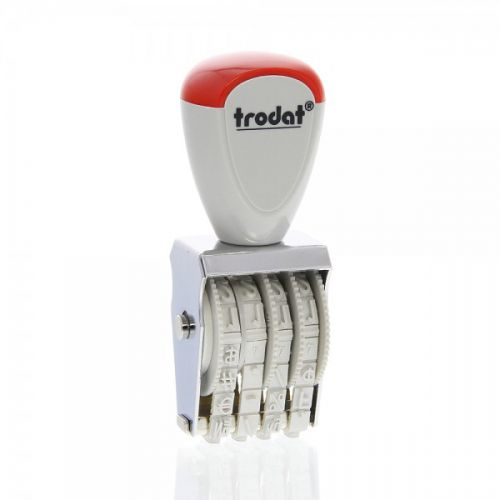 Trodat Classic Line 1534 Numberer - This stamp features 4 adjustable bands each with a character size of 3mm perfect for use at a large event.