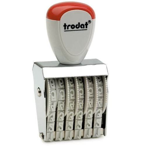 Trodat Classic Line 1546 Numberer - This stamp features 6 adjustable bands each with a character size of 4mm perfect for use at a large event.