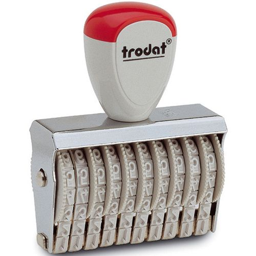 Trodat Classic Line 15410 Numberer - This stamp features 10 adjustable bands each with a character size of 4mm perfect for use at a large event.