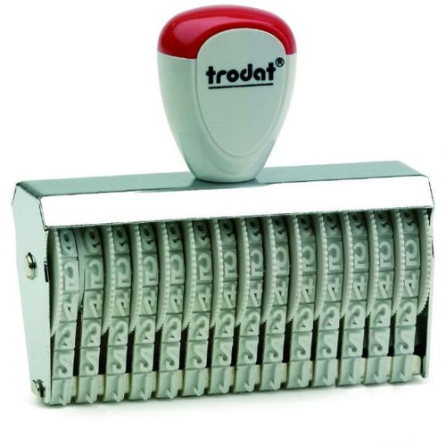 Trodat Classic Line 15412 Numberer - This stamp features 12 adjustable bands each with a character size of 4mm perfect for use at a large event.