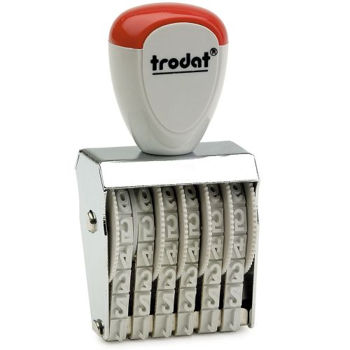 Trodat Classic Line 1556 Numberer - This stamp features 6 adjustable bands each with a character size of 5mm perfect for use at a large event.