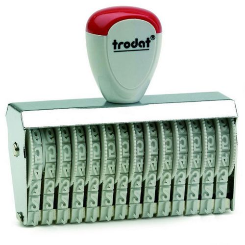 Trodat Classic Line 15512 Numberer - This stamp features 12 adjustable bands each with a character size of 5mm perfect for use at a large event.