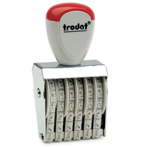 Trodat Classic Line 1576 Numberer - This stamp features 6 adjustable bands each with a character size of 7mm perfect for use at a large event.