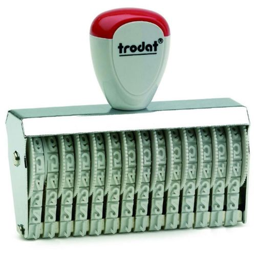 Trodat Classic Line 15912 Numberer - This stamp features 12 adjustable bands each with a character size of 9mm perfect for use at a large event.