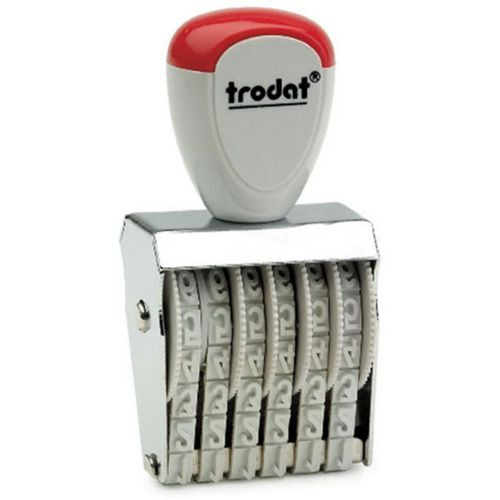 Trodat Classic Line 15126 Numberer - This stamp features 6 adjustable bands each with a character size of 12mm perfect for use at a large event.