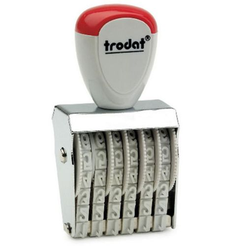 Trodat Classic Line 15156 Numberer - This stamp features 6 adjustable bands each with a character size of 15mm perfect for use at a large event.