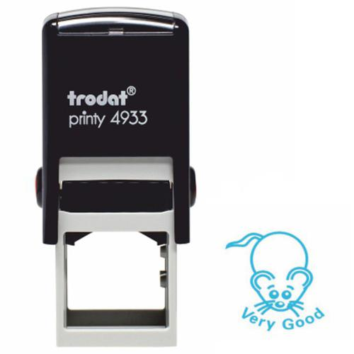 Trodat Classmates Education Stamp - Perfect for in the classroom, this self-inking stamp features the phrase 'VERY GOOD' alongside the image of a mous