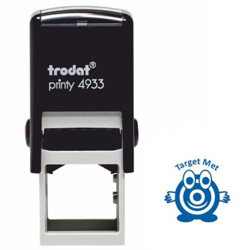 Trodat Classmates Education Stamp - Perfect for in the classroom, this self-inking stamp features the phrase 'TARGET MET' and the image of a target.