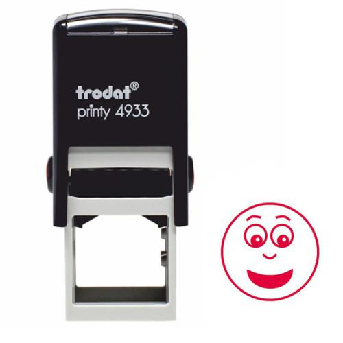 Trodat Classmates Education Stamp - For encouraging the pupils to produce good work, this self-inking stamp features a smiley face with no dimples.