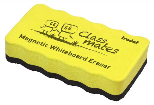 Trodat Classmates Educational Magnetic Eraser - Yellow. The perfect tool for in the classroom, wipe away whiteboard marks with this magnetic eraser.