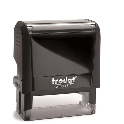 Trodat Printy 4914 Self Inking Custom Stamp. Imprint Area 64 x 26 mm - 6 lines maximum
