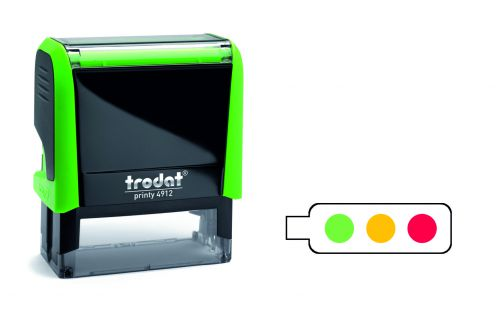 Trodat Classmate Printy 4912 Self-inking Stamp - Feedback A. This stamp features colourful traffic lights, perfect for in the classroom.