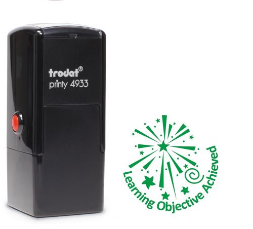 Trodat Teachers Stamp - Learning objective achieved - Green