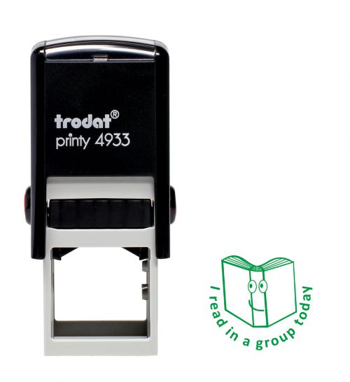 Trodat Teachers Stamp -I read in a group today - Green