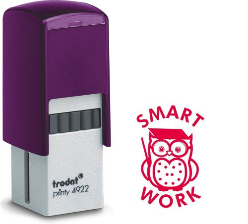 Trodat Teachers Stamp -Smart Work Owl - Red