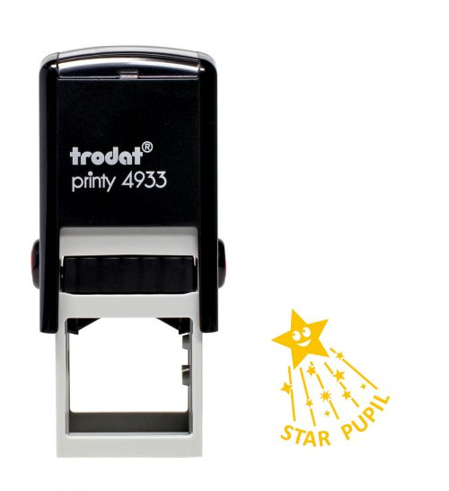 Trodat Teachers Stamp - Star Pupil with shooting star - Yellow