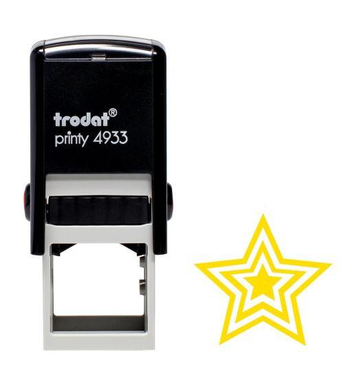 Trodat Teachers Stamp - Gold triple star