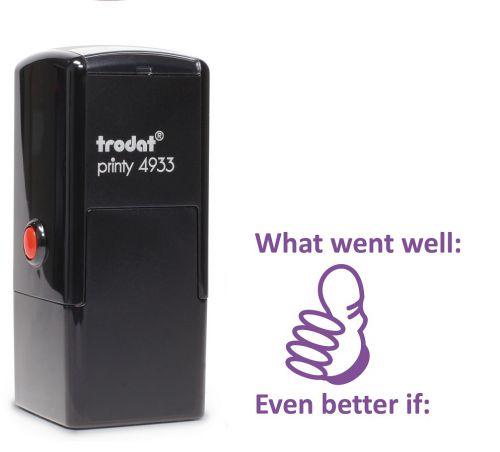 Trodat Teachers Stamp - What went well - Violet